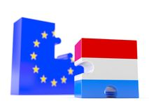 European union with Netherlands Royalty Free Stock Photos