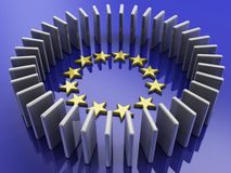 European union and obelisks Royalty Free Stock Images