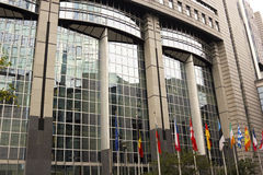 European Union Parliament in Brussels in Belgium Stock Photos