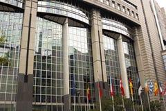 European Union Parliament in Brussels in Belgium. In Europe Stock Photos