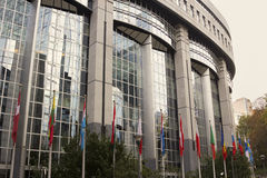 European Union Parliament in Brussels in Belgium Stock Photography