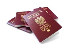 European union passports isolated on white Royalty Free Stock Photos