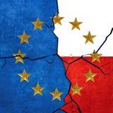 European union and Polish flags Stock Image
