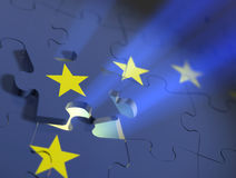 European Union Puzzle. European union puzzle. Concept image. 3D render Royalty Free Stock Photo