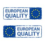European Union quality, EU vector letter stamp. vector illustration