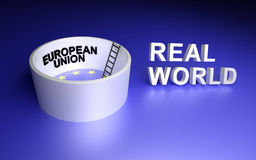 European Union and Real world. Royalty Free Stock Images