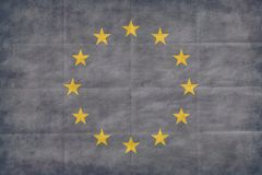 European Union retro flag Royalty Free Stock Photo