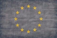 European Union retro flag Royalty Free Stock Photo