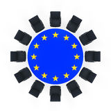 European Union Round Meeting Table Stock Image
