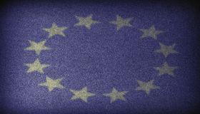 European Union sign Fabric dark background Stock Images