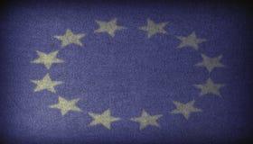 European Union sign Fabric dark background Stock Images