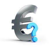 European union sign question mark Stock Photos
