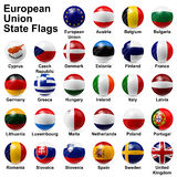 European union state flags. Shiny ball royalty free illustration