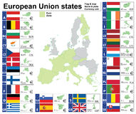 European Union states complete collection Stock Image
