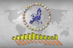 European Union statistics Stock Images
