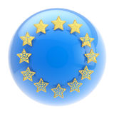 European Union symbol: sphere and collapsing stars Royalty Free Stock Photos