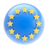 European Union symbol: sphere and golden stars Stock Image