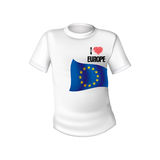 European Union t-shirt flag Stock Photos
