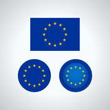 European Union trio flags,  illustration Royalty Free Stock Images