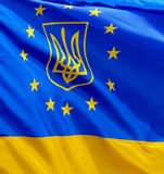 European Union and Ukraine Royalty Free Stock Photos