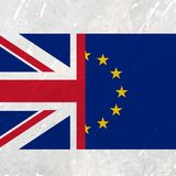 European union and united kingdom flag Royalty Free Stock Images