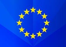 European union vector facet flag logo. Stock Photo