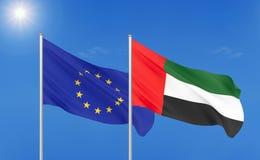 European Union vs United Arab Emirates. Flag illustration eu europe vector illustration