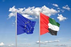 European Union vs United Arab Emirates. Flag union icon vector illustration
