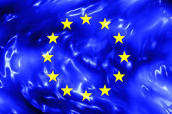 European Union Water Flag Stock Images