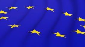 European Union. Waving flag of the European Union Royalty Free Stock Photography
