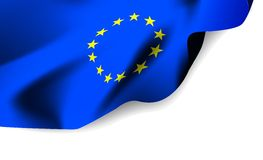 European Union waving flag Stock Photos