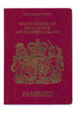 European - United Kingdom - Passport. With the seal of the UK Stock Images