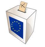 European urn symbol. On white background Royalty Free Stock Images