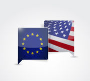 European and us communication Stock Photo