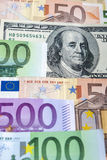 European and the US Hard Currencies Together. Stock Image