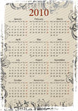 European Vector grungy calendar Stock Photos