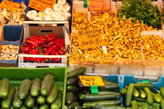 European Vegetable Market Royalty Free Stock Image