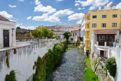 European village. Narrow streets of Obidos Royalty Free Stock Photos