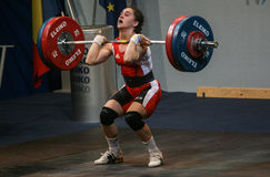 European Weightlifting Championship, Bucharest, Romania, 2009 Royalty Free Stock Image