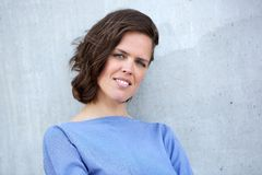 European woman in her thirties. Close up portrait of a european woman in her thirties Royalty Free Stock Photography
