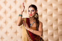 European woman posing in Indian Style Royalty Free Stock Images