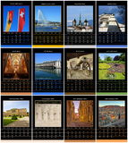 European 2015 year calendar for Geneva, Stock Image