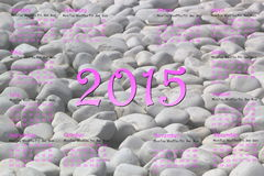 European 2015 year calendar with stones. European 2015 year calendar with grey stones Stock Photo