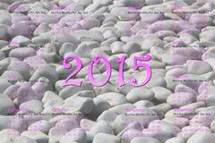 European 2015 year calendar with stones. European 2015 year calendar with grey stones royalty free illustration