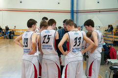 European youth basketball league Royalty Free Stock Photo