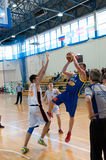 European youth basketball league Royalty Free Stock Photography
