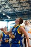 European youth basketball league Stock Image