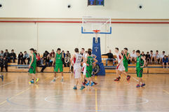 European youth basketball league Royalty Free Stock Image
