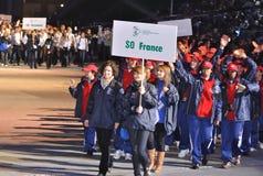 europeanen spelar olympiska spelspecialsommar Fotografering för Bildbyråer