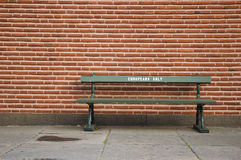 Europeans only. Bench with europeans only written on it Royalty Free Stock Photo